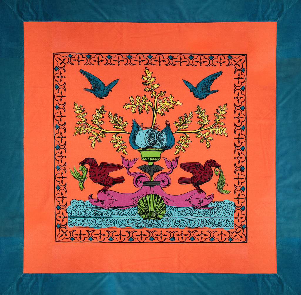 Quilt Pop of Arms in cotton velvet - Lobster Orange - Renaissance Pop - Sans Tabù