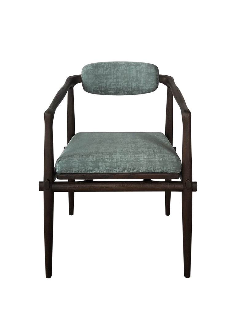 Dining Chair - 57 x 52,5 x h 72 - Brown and Sage Green - Interlock - André Fu Living
