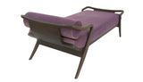 Chaise Longue - 155 x 75 x h 47 - Brown and Plum - Mid Century Rhythm - André Fu Living