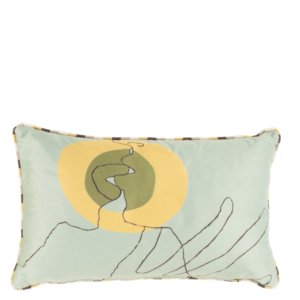 Cushion Kiss in Cotton Jacquard - Sol Yellow - Medium Circle - Sans Tabù