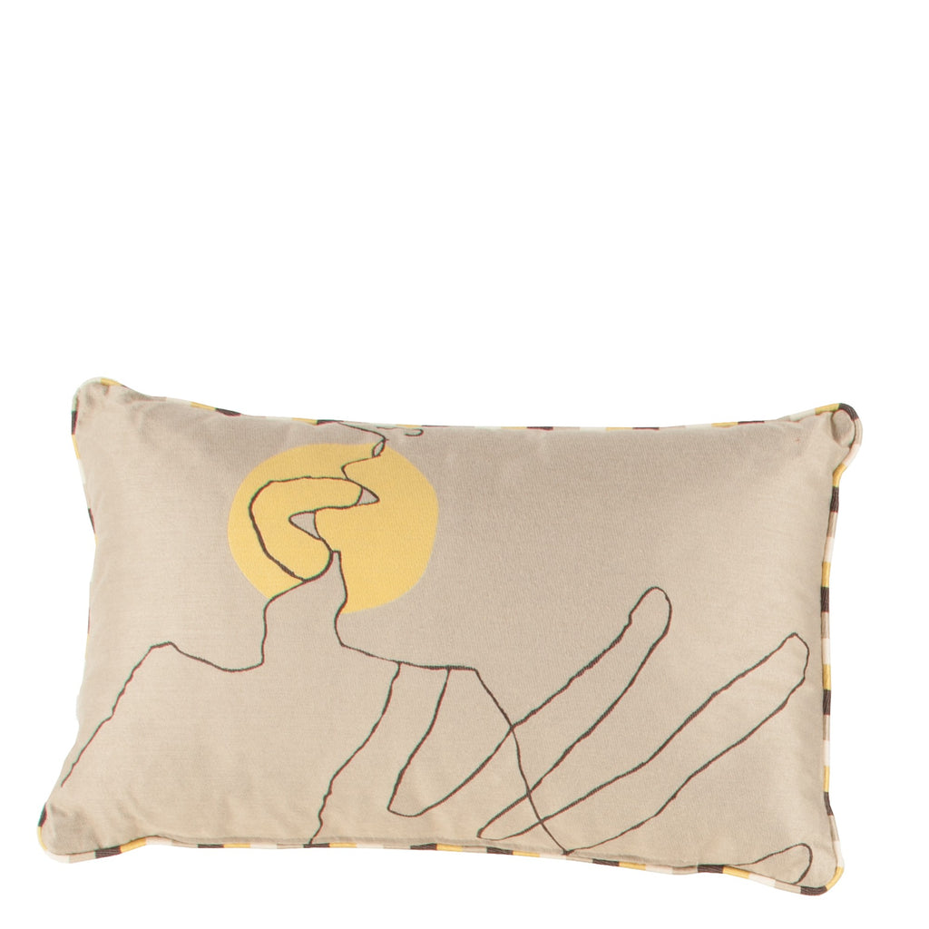Cushion Kiss in Cotton Jacquard - Sol Yellow - Small Circle - Sans Tabù