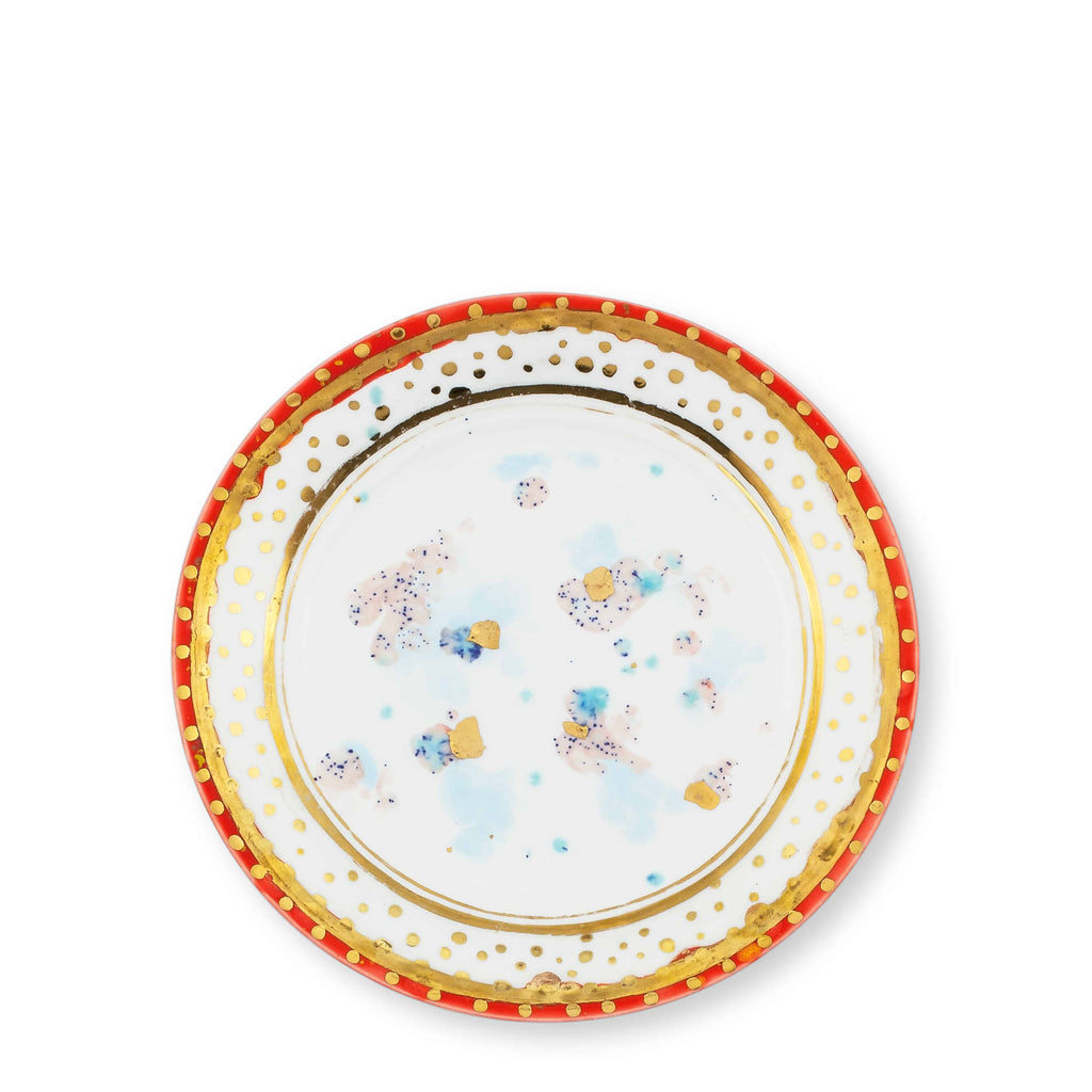 Dessert Plate Ø21 Scipione Bone China - Villa Borghese Series - Coralla Maiuri - Shop Now at Sans Tabù