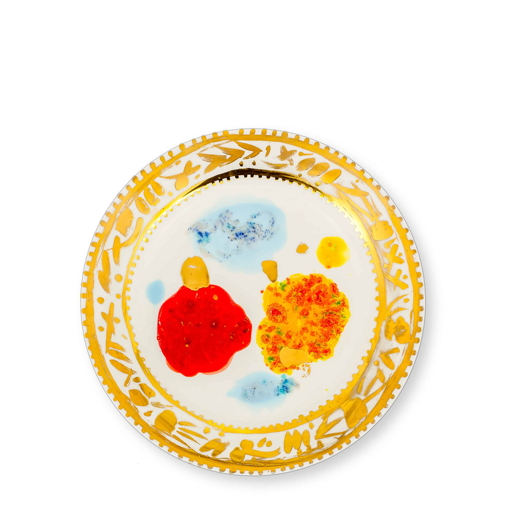 Dessert Plate Ø21 Caravaggio Bone China - Villa Borghese Series - Coralla Maiuri - Shop Now at Sans Tabù