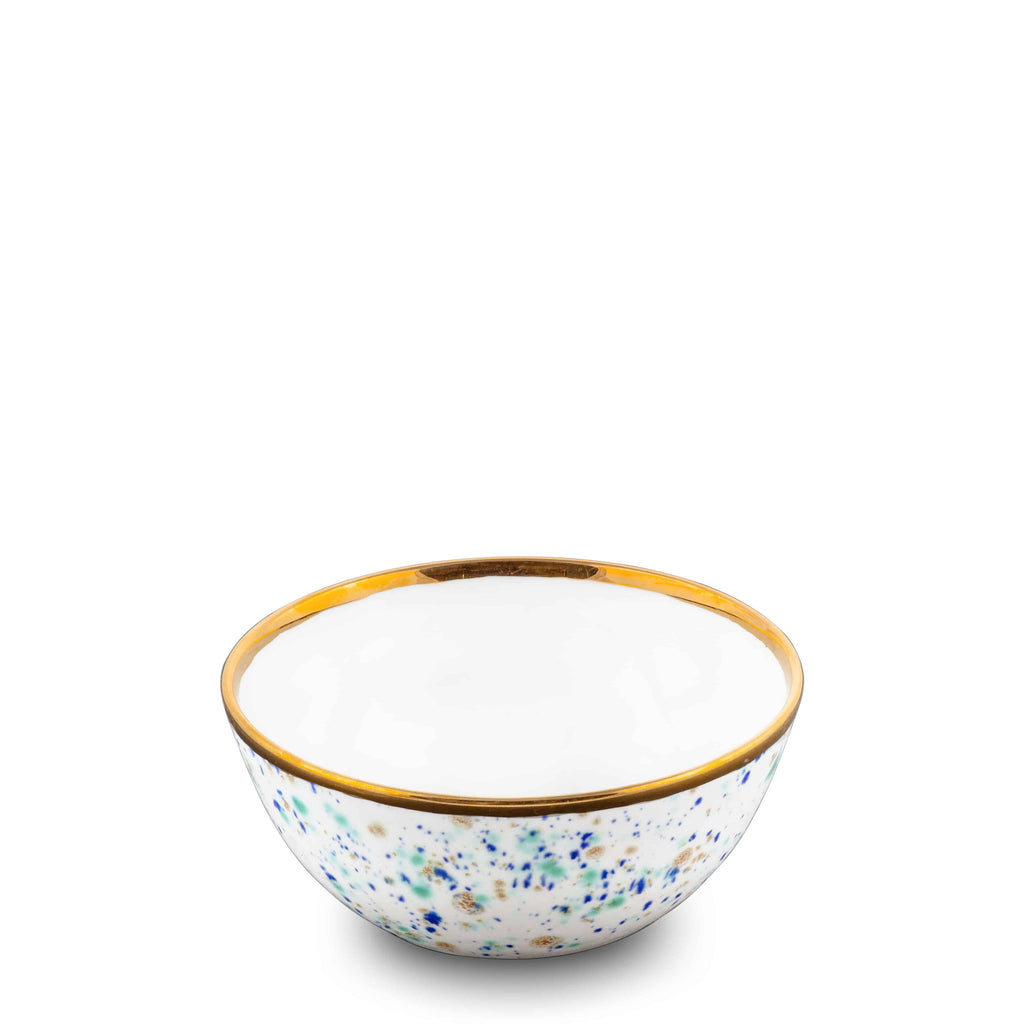 Fruit Bowl Ø13x5H Bowl Blue Marble Bone China - Piazza del Popolo Series - Coralla Maiuri - Shop Now at Sans Tabù