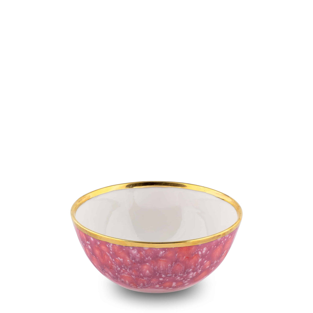 Fruit Bowl Ø13x5H Berry Bone China Piazza del - Popolo series - Coralla Maiuri - Shop Now at Sans Tabù