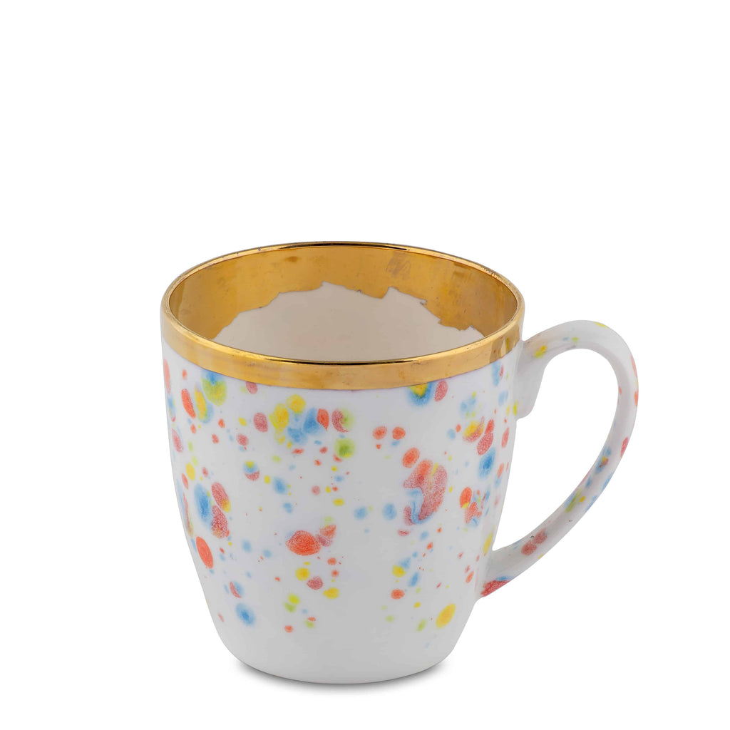 Large Mug 40cl Confetti Porcelain - Piazza del Popolo Series - Coralla Maiuri - Shop Now at Sans Tabù