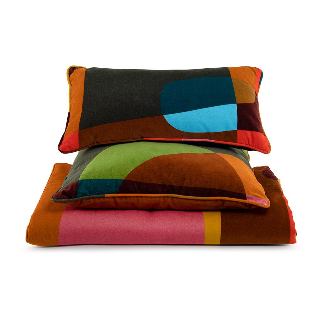Cushion Love Large in Cotton Velvet - Sunlight Red - Eros Ludique - Sans Tabù
