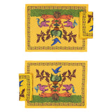 Place Mats set with two Napkins Aristo Pop in Linen - Yellow Gold - Renaissance Pop - Sans Tabù