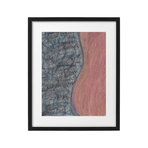 black woman fine art print blue and brown
