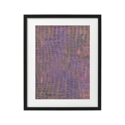 Purple abstract art print by black female artist