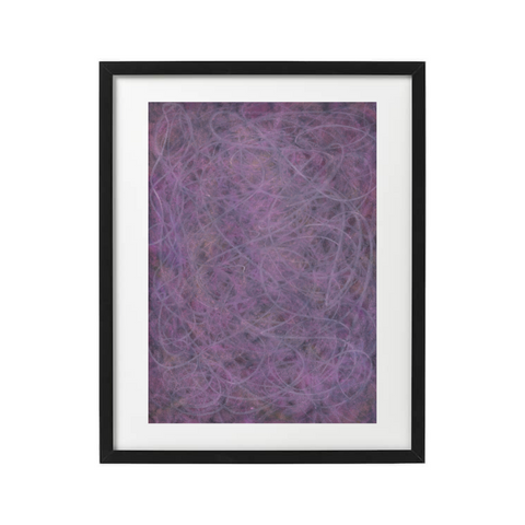 purple abstract fine art print by black female artist