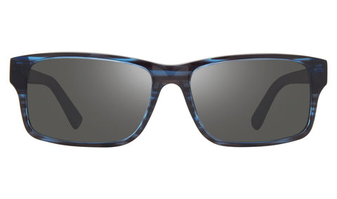 Revo Finley Blue Horn Frame with Graphite Lens