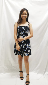 Paislee Floral Dress in Blue - BellissimoLabel