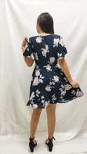 Load image into Gallery viewer, Premium - Waverly Floral Dress in Navy - BellissimoLabel