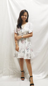 Premium - Waverly Floral Dress in White - BellissimoLabel