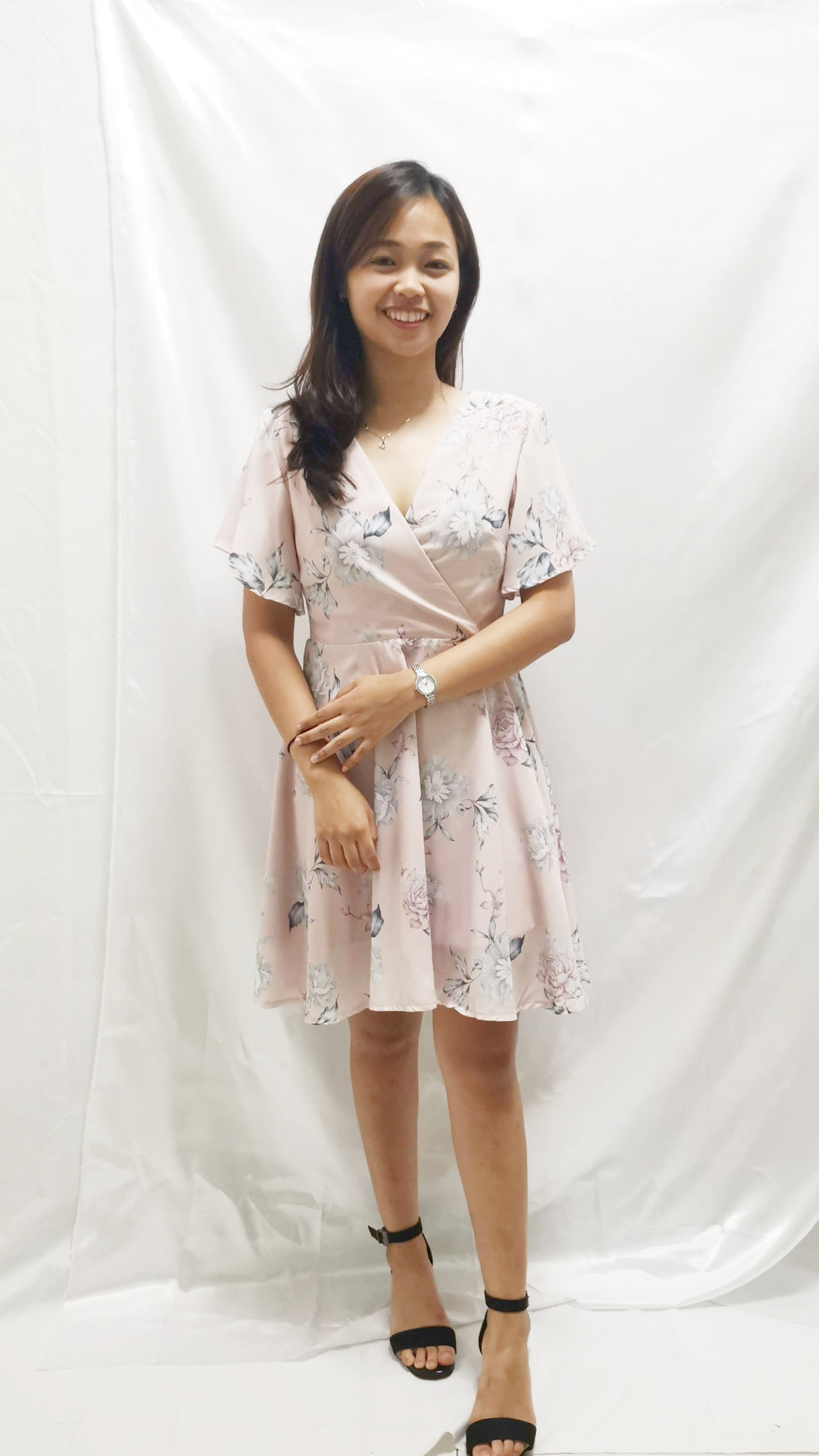 Premium - Waverly Floral Dress in Pink - BellissimoLabel