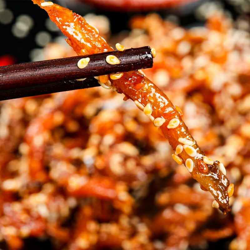 [China Recommended] Hai Ze Sheng Shredded Eel Sweet & Spicy 80g