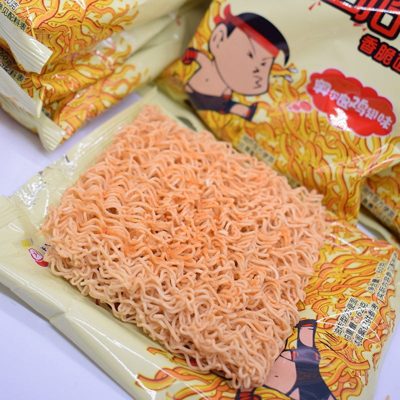[China Heat] Mr.Crisp Snack Instant Noodle Blackpepper Steak Flavor
