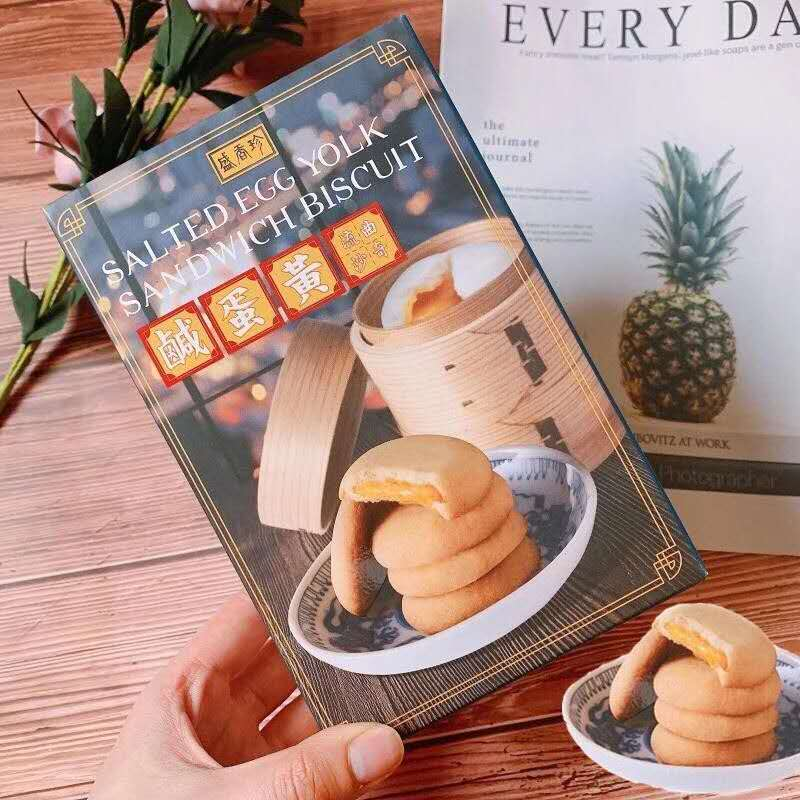 [Taiwan BEST Seller] SHJ - Salted Egg Yolk Sandwich Biscuit 85g