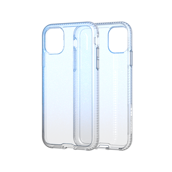 Tech21 PURE SHIMMER Blue保護殻 - iPhone 11 / Pro / Pro Max專用