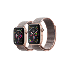 Load image into Gallery viewer, Apple Watch 金色鋁金屬錶殼配淺粉紅色運動手環 - Series 4