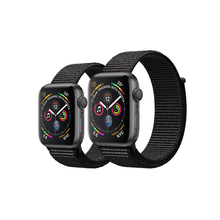 Load image into Gallery viewer, Apple Watch 太空灰鋁金屬錶殼配黑色運動手環 - Series 4