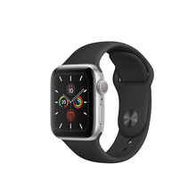 Load image into Gallery viewer, (最新) Apple Watch 銀色鋁金屬錶殼配黑色運動錶帶 - Series 5