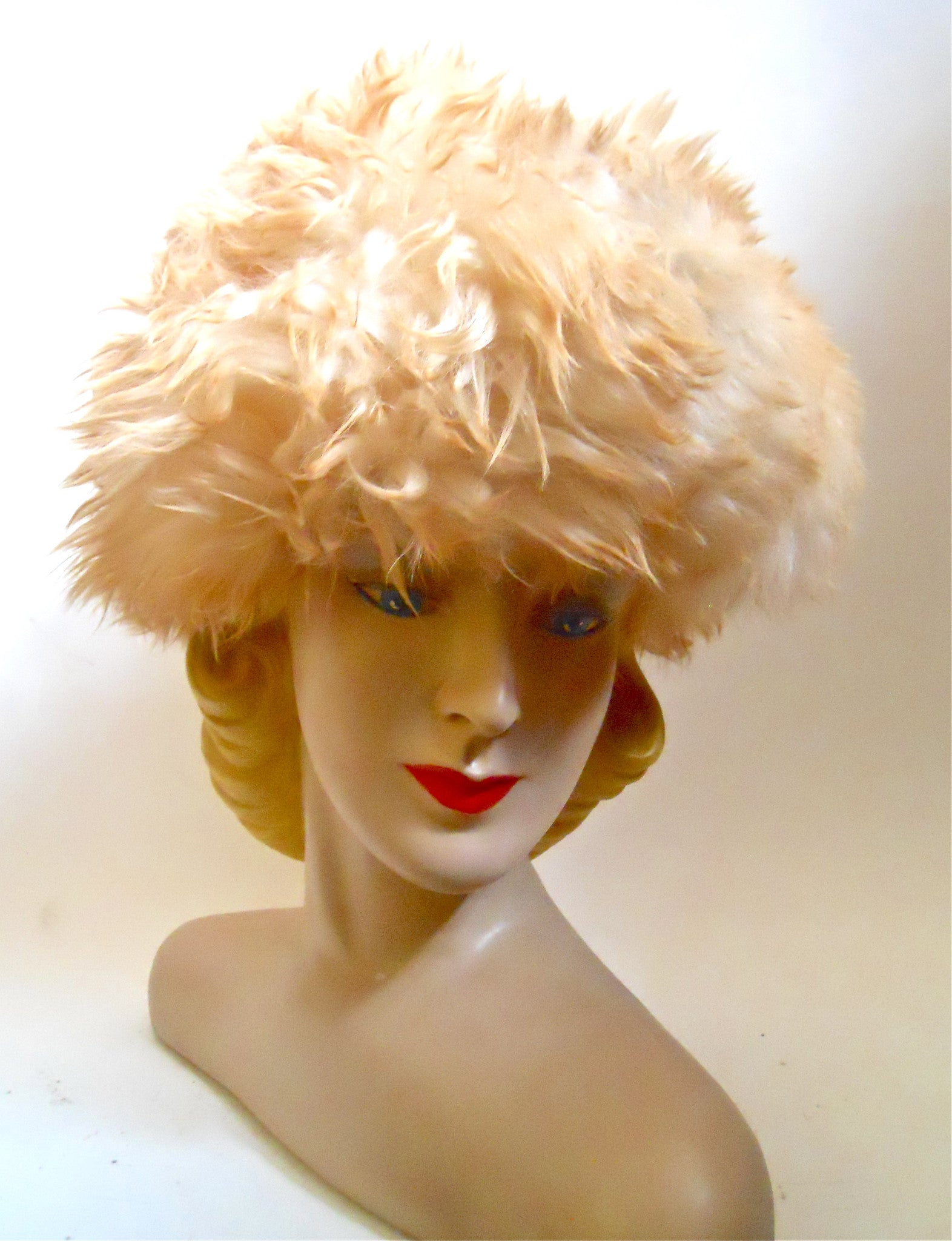 Russian Princess Shearling Poof 1960s Hat Dorothea's Closet Vintage Hat