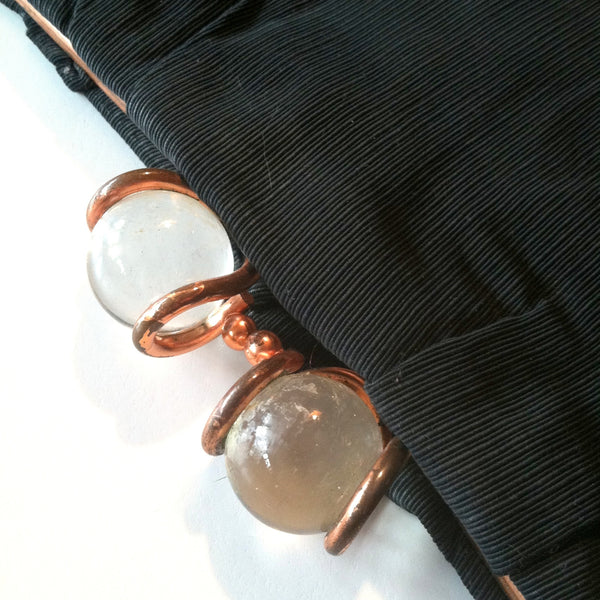 Copper and Lucite Framed Clutch Style Handbag circa 1940s