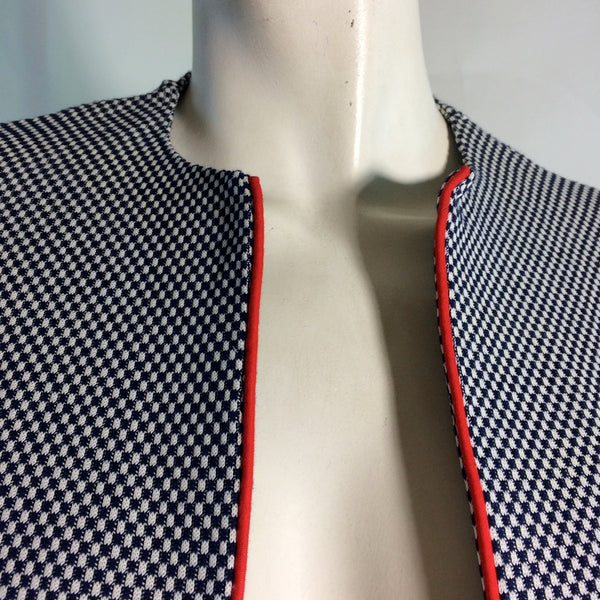 Red White and Blue Checked Suit circa 1960s