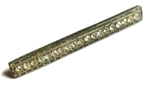 Brilliant Rhinestone Studded 1920s Bar Pin