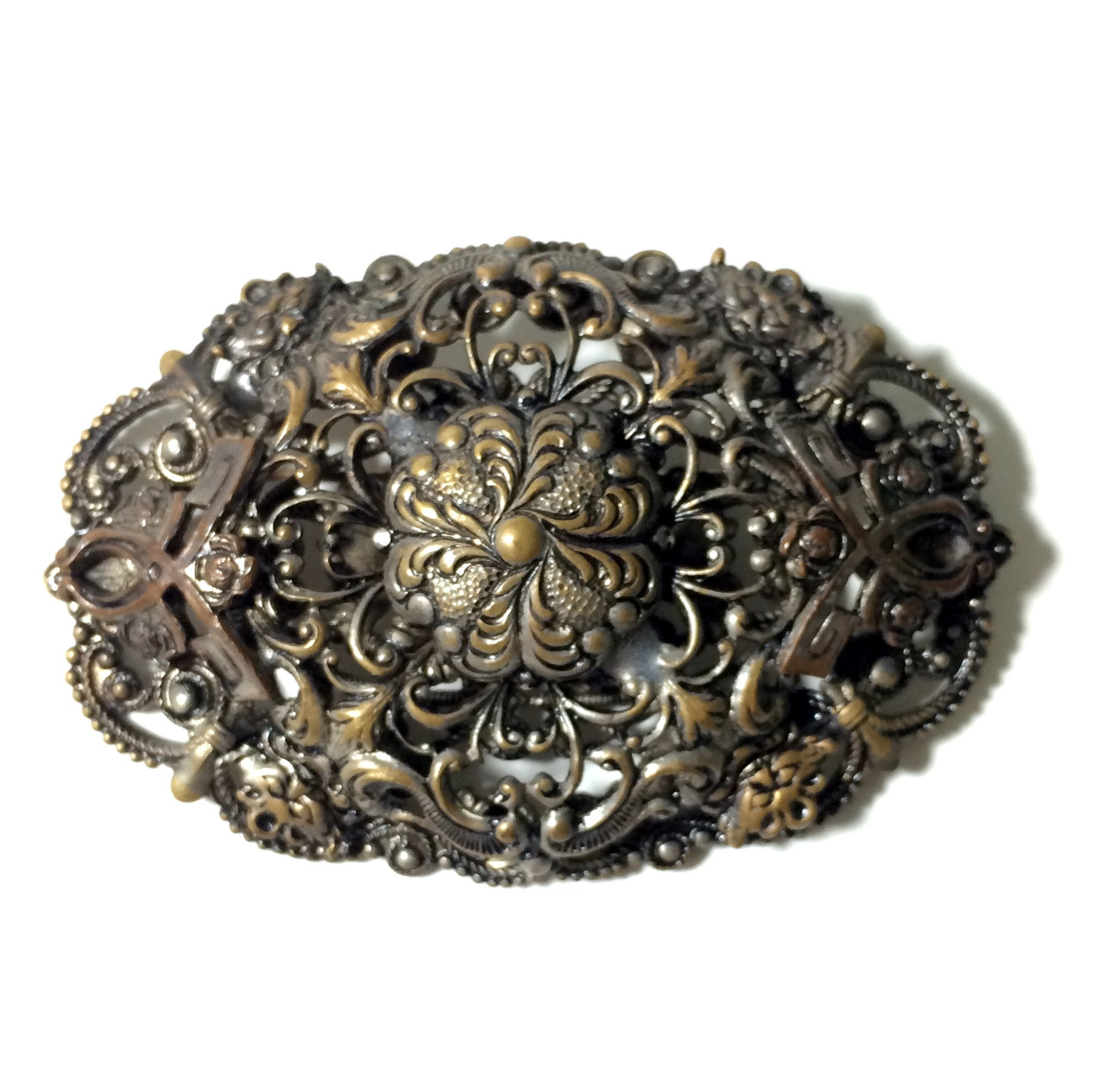 Exquisitely Detailed Filigree Large Statement Brooch circa 1930s