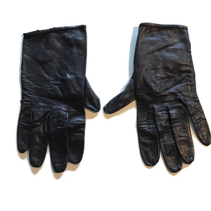 Black Leather Driving Gloves circa 1960