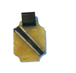 Celluloid Art Deco Pendant circa 1920s