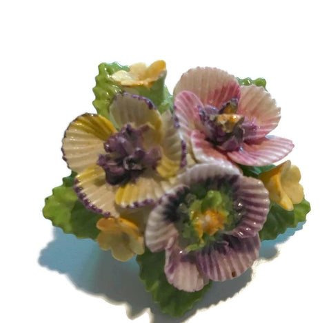 Flower Bouquet Porcelain Brooch circa 1940s