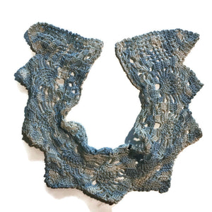 Baby Blue and White Crocheted Collar circa 1910s