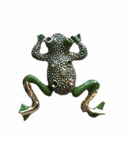 Dangling Articulated Leggy Frog Brooch circa 1960s