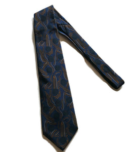 Surrealist Blue Orb an Waves Tie circa 1990s