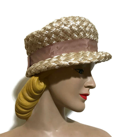 Ivory Cello Crusher Hat circa 1960s