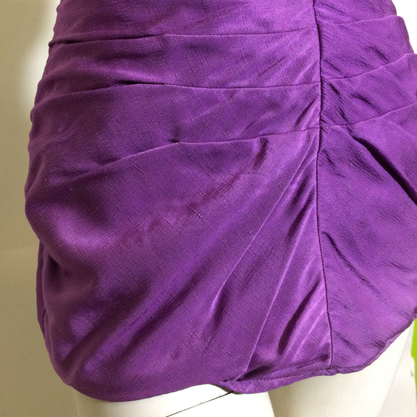 Rose Marie Reid Violet Draped Sheath Swimsuit circa 1950s