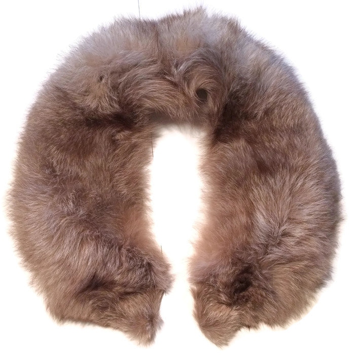 Silvery Tan Long Hair Fox Fur Collar circa 1960s