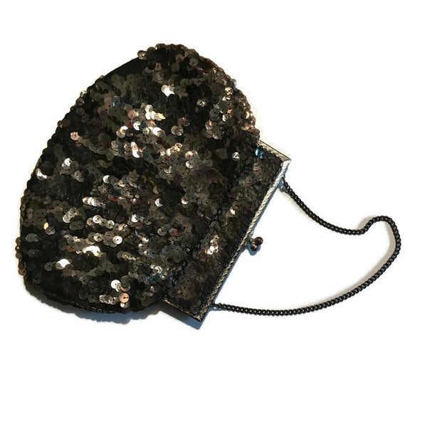 Shimmering Gelatin Sequined Golden Evening Bag circa 1930s