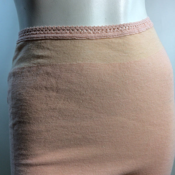 Pretty Peach Wool Knit Thermal Underwear circa 1930s