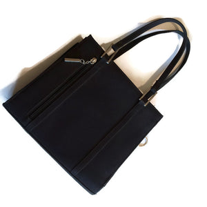 Navy Blue Faille Rayon Handbag circa 1970s