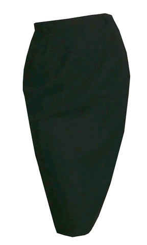 Jet Black Classic Pencil Skirt circa 1960s
