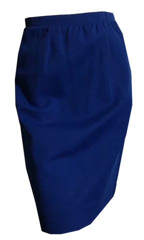 Cobalt Blue Poly Knit Mini Skirt circa 1960s