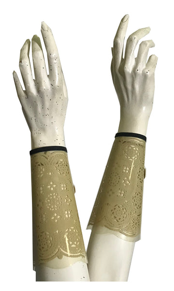 Lace Look Plastic Sleeve Cuff Protectors Shields circa 1930s