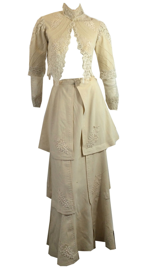 Turn of the Century Wool and Lace Wedding Ensemble circa 1905 Dorothea's Closet Vintage Clothing