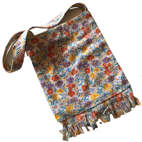 Pastel Floral Candy Beaded Fringed Handbag circa 1960s