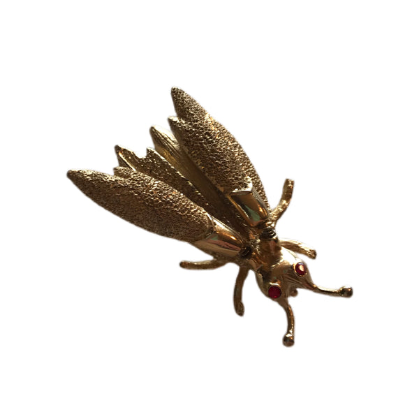 Cicada Trembler Novelty Brooch circa 1950s